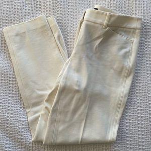 White Slim Ankle Pants